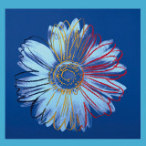 Marguerite (1982) (bleu sur fond bleu) Reproduction d'art par Andy Warhol
