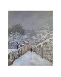 Snow at Louveciennes  France  c1878