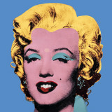 Marylin sur fond bleu, 1964 Reproduction d'art par Andy Warhol