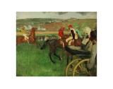 The Race Course: Amateur Jockeys near a Carriage  c1876-1887