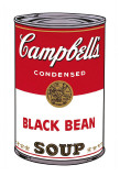 Campbell's Soup I: Black Bean, c.1968 Reproduction d'art par Andy Warhol
