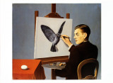 La Clairvoyance Reproduction d'art par Rene Magritte
