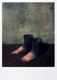 Le modèle rouge Reproduction d'art par Rene Magritte