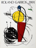 Roland Garros Reproduction pour collectionneurs par Joan Miró