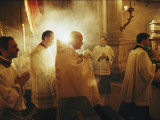 Pope John Paul Ii Carries Holy Communion before Mass on Holy Thursday