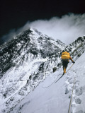 Climbers  25 000 Feet Up  Push on Toward the Summit of Mount Everest