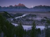 The Moon Bows to the Sun as First Light Strikes the Teton Range