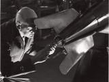 Robert Goddard Adjusting a Steering Vane