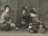 Geishas Perform a Tea Ceremony