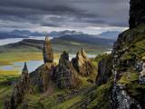 Basalt pinnacles loom over the Sound of Raasay