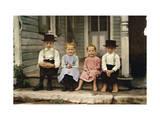 An Informal Group Portrait of Amish Children