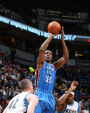 Oklahoma City Thunder v Minnesota Timberwolves: Kevin Durant  Corey Brewer and Kevin Love
