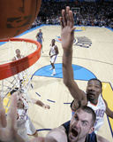 Minnesota Timberwolves v Oklahoma City Thunder: Kevin Love and Kevin Durant