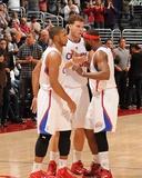 San Antonio Spurs v Los Angeles Clippers: Eric Gordon  Blake Griffin and Baron Davis