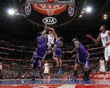 Sacramento Kings v Los Angeles Clippers: Blake Griffin  Samuel Dalembert and Beno Udrih