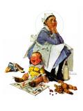"""Exasperated Nanny""  October 24 1936"