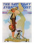 """Springtime  1933"" Saturday Evening Post Cover  April 8 1933"