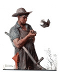 """""""Farmer and the Bird"""" or """"Harvest Time""""  August 18 1923"""