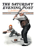 """Gramps at the Plate"" Saturday Evening Post Cover  August 5 1916"