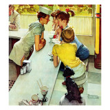 """Soda Jerk"", August 22,1953 Giclée par Norman Rockwell"