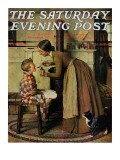 """Medicine Giver"" ""Take Your Medicine"" Saturday Evening Post Cover  May 30 1936"