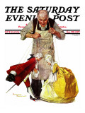 """""""Marionettes"""" Saturday Evening Post Cover  October 22 1932"""