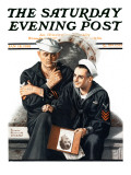 """""""Thinking of the Girl Back Home"""" Saturday Evening Post Cover  January 18 1919"""