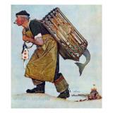 """Mermaid"" or ""Lobsterman"", August 20,1955 Giclée par Norman Rockwell"