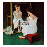 """Girl at the Mirror"", March 6,1954 Giclée par Norman Rockwell"