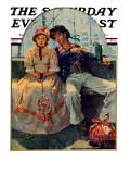 """Yarn Spinner"" Saturday Evening Post Cover  November 8 1930"
