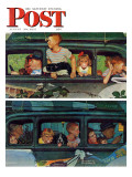 """Outing"" or ""Coming and Going"" Saturday Evening Post Cover  August 30 1947"