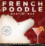 French Poodle Martini Reproduction d'art par Stephen Fowler