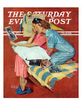 """Movie Star"" Saturday Evening Post Cover  February 19 1938"