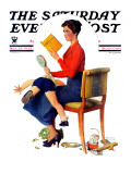 """Child Psychology"" or ""Spanking"" Saturday Evening Post Cover  November 25 1933"