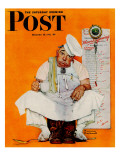 """Thanksgiving Day Blues"" Saturday Evening Post Cover  November 28 1942"