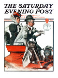"""Speeding Along"" Saturday Evening Post Cover  July 19 1924"