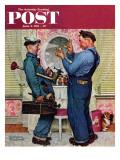 """""""Plumbers"""" Saturday Evening Post Cover  June 2 1951"""