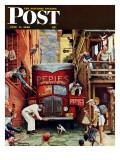 """Road Block"" Saturday Evening Post Cover  July 9 1949"