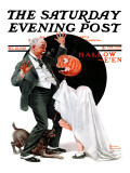 """Halloween"" Saturday Evening Post Cover  October 23 1920"