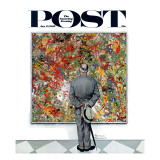 """Art Connoisseur"" Saturday Evening Post Cover  January 13 1962"