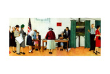 """Norman Rockwell Paints America at the Polls""  November 4 1944"