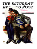 """""""Plot Thickens"""" Saturday Evening Post Cover  March 12 1927"""