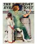 """Going Out"" Saturday Evening Post Cover  October 21 1933"