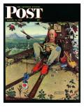 """April Fool  1945"" Saturday Evening Post Cover  March 31 1945"