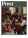 """""""Homecoming Marine"""" Saturday Evening Post Cover  October 13 1945"""