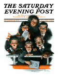 """Charlie Chaplin Fans"" Saturday Evening Post Cover  October 14 1916"