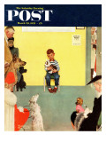 """At the Vets"" Saturday Evening Post Cover  March 29 1952"