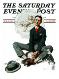 """Cupid's Visit"" Saturday Evening Post Cover  April 5 1924"