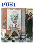 """Elect Casey"" or ""Defeated Candidate"" Saturday Evening Post Cover  November 8 1958"