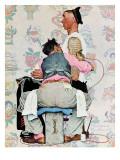 """""""Tattoo Artist"""", March 4,1944 Giclée par Norman Rockwell"""